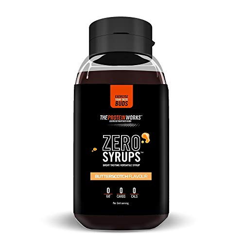 THE PROTEIN WORKS Zero Syrups | Calorie Free, Sugar Free & Carb Free | Guilt Free Dessert Topping Sauce | THE PROTEIN WORKS | Butterscotch | 600 ml