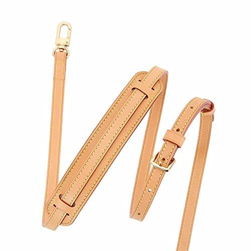 Vachetta - Tracolla regolabile in pelle Vachetta per Pochette Piccole Borse Speedy Favorite NM Eva PM MM con hardware oro 1,2 cm (Vachetta strap2S1.2+spalla)