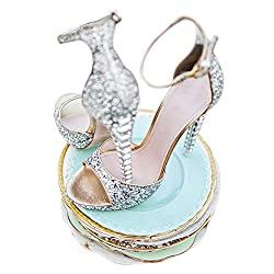 Silver High Heel Fish Mouth Open Toe Sandals