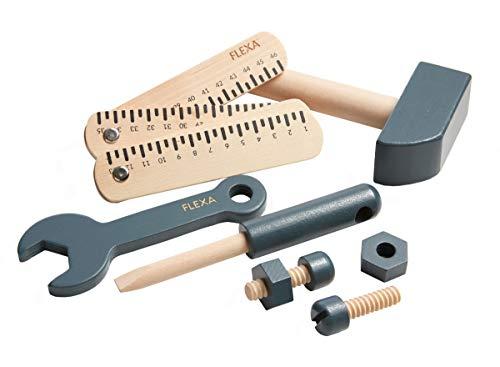 FLEXA Werkzeugsatz 8tlg. Dark Blue Natur Workbench 82-70151