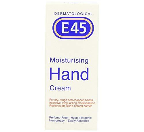 Dermatologische E45 Hand Feuchtigkeitscreme - behandlung für trockene, raue, rissige Haut 50ml