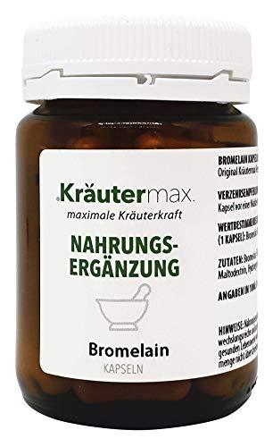 Kräutermax Bromelain Hochdosiert Vegan Kapseln 1 x 60 Stk. Enzym Nahrungsergänzung