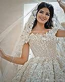 QING XIN-1225 Abiti da Sposa Lusso 3D Fiori del Merletto Fuori dalla Spalla di Sfera Abiti da Sposa d'Epoca Principessa Saudita Arabo Dubai Plus Size Abito da Sposa Abiti da Cerimonia