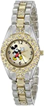 Disney Women's MK2056 Mickey Mouse Gold Sunday Dial Two-Tone Bracelet Watch