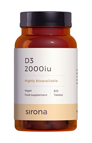 Vitamin D3 | Clinical Grade Vegan Vitamin D3 2000 IU Tablets | Daily dose of D3 in 1 Tablet | 2 Months Supply by Sirona Nutrition Delivering to Precise Nutritional Needs