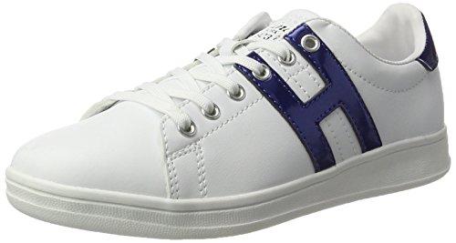 H.I.S Damen 16MCB002 Sneaker, Weiß (White/Blue), 40 EU