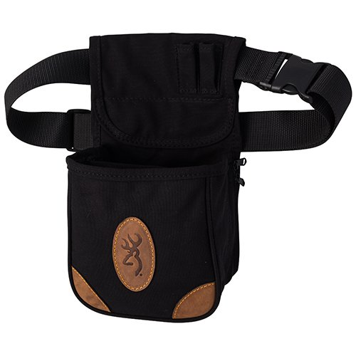 Browning, Lona, Canvas/Leather Shell Pouch, Black