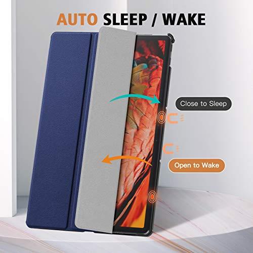 MoKo Hülle Kompatibel mit Lenovo Tab P11 Pro 11.5-Inch 2020 Model (TB-J706F/J706L) Tablet, Ultra Slim PU Leder Tasche Schutzhülle mit Auto Sleep/Wake up Funktion und Standfunktion, Indigo