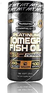 MuscleTech PLATINUM 100 percent OMEGA FISH OIL 100 SOFT GELS
