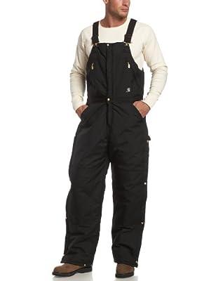 Carhartt Men's Yukon Arctic Quilt Lined Zip to Waist Biberalls,Black,44 x 34