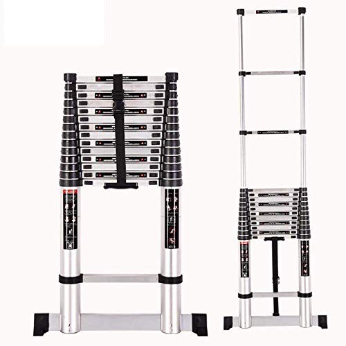 MGCD Step Ladder,Mult-Purpose Telescopic Folding Ladder 2.7M-5.1M Aluminium Extension Ladder,2.6mStraightLadder (Color : 3.2mStraightLadder)
