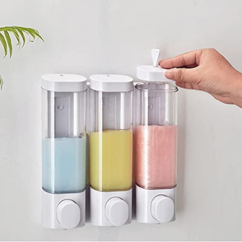 barley Manuale da Soap Dispenser Sapper Pompa Doccia Mano SANITIZER Dispenser Montaggio a Muro Pompa Sapone 300ml / 10.6oz (Triplo) (Color : White)