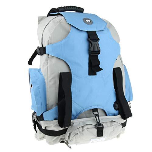 IPOTCH Quad Skate Roller Bag Backpack Skatepack Outdoor Skates Carrying Shoulder for Youth Adults Skating - Blue