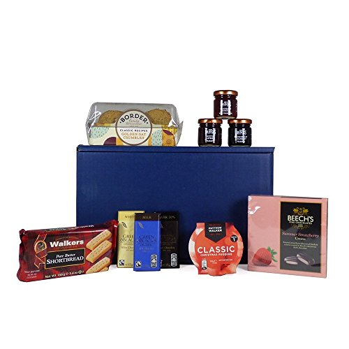 Sweet Treats Blue Gift Box Food Hamper - Gift Ideas for Christmas, Mum, Valentines, Mother's Day, Birthday, Business and Corporate