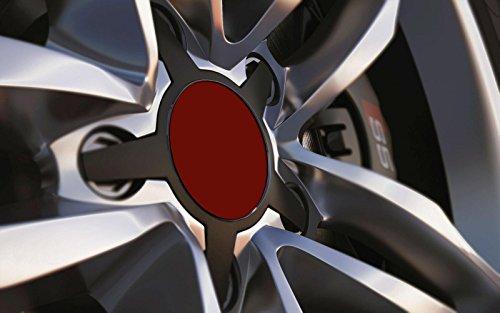 Standard ajustement universel 80 mm Centre de roue en alliage Cap badges, Bordeaux