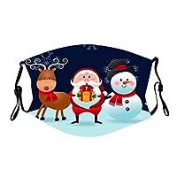 洗える マスク ウレタン 立体マスク 在庫あり 単品 繰り返し 使える レギュラーサイズ 大人用 3D立体 手洗い可能 花粉症 花粉 ほこり ウイルス クリスマス サンタクロース クリスマスツリー マスク (1枚入/001#)