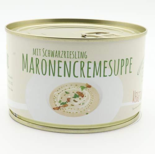 Diem Vegetarische Maronen Creme Suppe mit Schwarzriesling Dose 400g / Esskastanien Suppe, Gourmet Suppe - lange Haltbar
