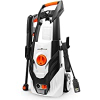 Rockpals 1600 PSI 1.54 GPM High Pressure Power Washer Machine With 26 Ft Hose