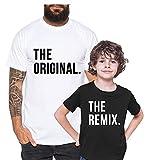 Original Remix - Camiseta de Pareja Padre Hijo niño bebé Body cumpleaños - Look de Pareja, Größe2:98-104, T-Shirts:Camiseta Infantil Blanco