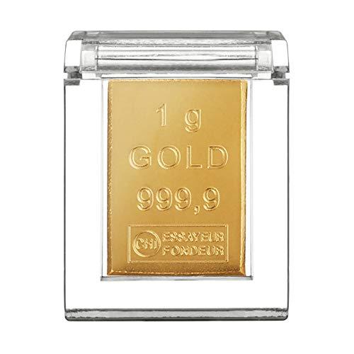 Goldbarren 1g in hochwertiger Kapsel - Geschenk - Feingold 999.9 (1g Gold)