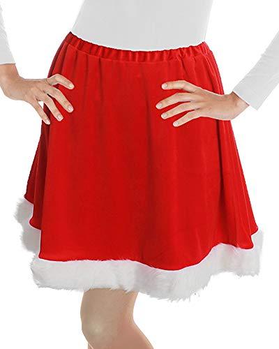Korte rok Miss Santa - rood - Kerstvrouw Kerstmis kostuum carnaval Kerstmis