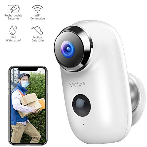 Victure 1080P Home Wireless Security Camera Outdoor Rechargeable Battery Powered Camera with 2-Way...