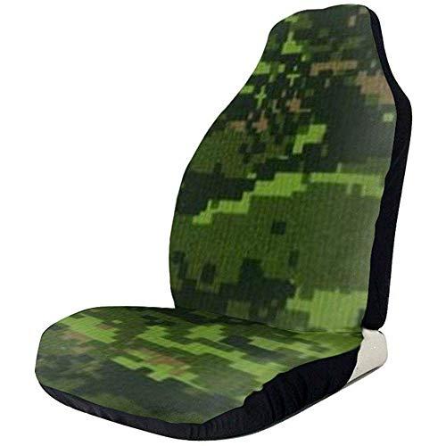 TABUE 2pcs Autositzbezug Full Set - Green Army Digital Camouflage Gedruckte Autositzbezüge, Autositzbezüge, passend für die meisten PKWs, LKWs, SUVs oder Lieferwagen