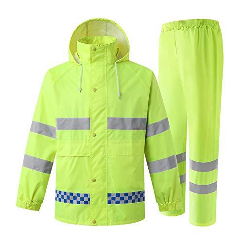 MSYL Chaqueta de Seguridad Traje de Lluvia Abrigo de Lluvia Ropa de Trabajo Hombres Ropa de Lluvia Impermeable Ropa de Hombre Pantalones de Trabajo Ropa Reflectante de Hombre Traje de Lluvia Amarillo