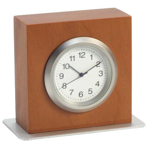 Tischuhr | Schreibtischuhr TABLO | Miniatur-Uhr aus Birnbaumholz | H = 5 cm | Ofform Design | Nr.15101