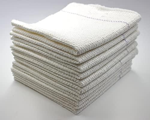 Toallitas de algodón para cocina, color blanco, para suelo, azulejos, madera de PVC, suelos de parqué, 30 x 30 cm, 10 unidades