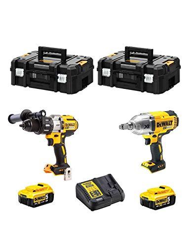 DeWAlT Kit CPROF297 - Kit sin escobillas (DCD995 + DCF899 + 2 baterías x 5,0 Ah + 2 maletines TSTAK II)