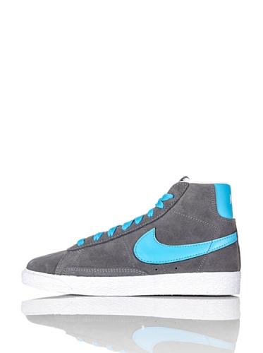 Nike Blazer Mid 375490-045 Jungen Basketballschuhe Mehrfarbig (White/Grey/Blue 045) 28