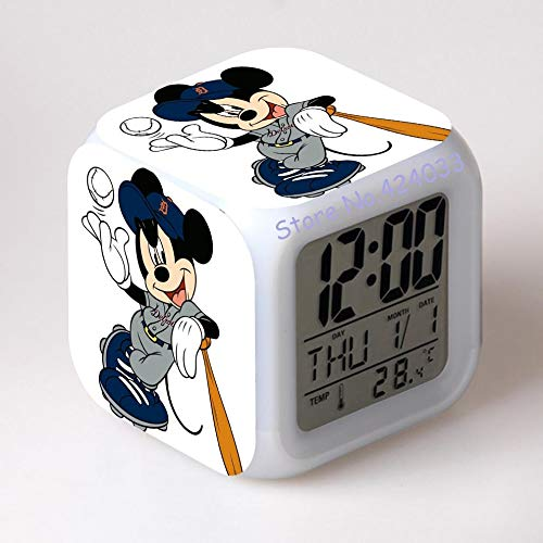 GUOYXUAN Juguete Despertador-Reloj Despertador Digital Reloj de Juguete Imprimir Dibujos Animados luz de Noche Colorido Juguete Brillante