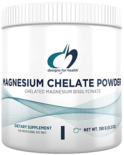 Designs for Health Magnesium Chelate Powder - 300mg Powdered Chelated Magnesium Bisglycinate Supplement - Non-GMO Great-Tasting Drink Mix Add-in, Orange Flavor (30 Servings / 150g)