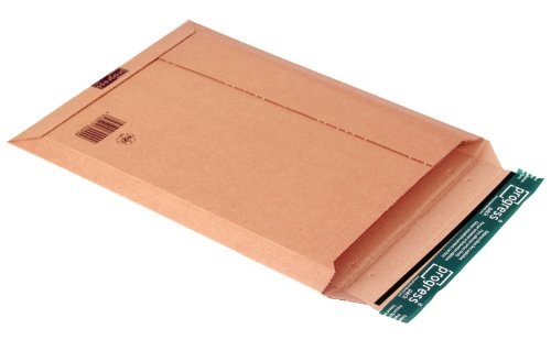 progressPACK Kalenderversandtasche Premium PP W01.08 aus Wellpappe, DIN A3, 335 x 500 x bis 50 mm, 25-er Pack, braun