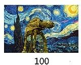 Terraza del famoso café Van Gogh, reproducciones de pinturas al óleo sobre lienzo por la noche, carteles y grabados sin marco, murales de la sala de estar 100 Sin marco 60x90cm