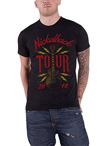 NICKELBACK T Shirt Guitar Tour 2016 Band Logo Nue offiziell Herren