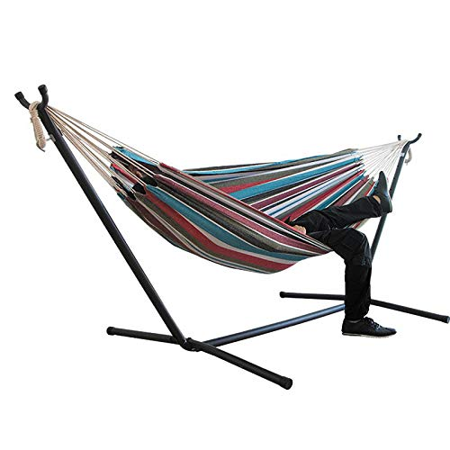 Yajun Hamaca Portátil para Acampar con Soporte Paracaídas de Nailon Ultraligero Doble Adulto Viaje Camping Cama para Dormir,D