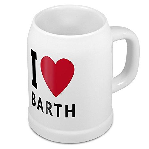 digital print Bierkrug mit Stadtnamen Barth - Design stilvollem I Love Barth - Städte-Tasse, Becher, Maßkrug