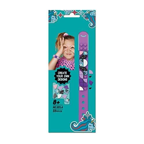 Hinder Juego de pulseras ajustables para niños, juguete educativo para construir y hacer manualidades