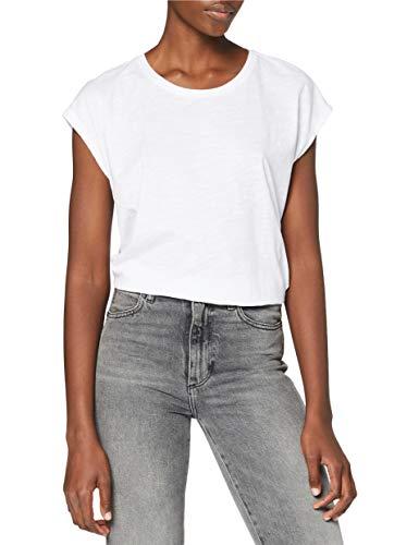 NAME IT NMMATHILDE S/S Loose Long Top Noos Camiseta, Blanco (Bright White Bright White), XL para Mujer