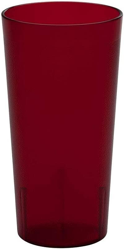 Cambro 2000P156 Colorware Ruby Red 22 Oz Tumbler Dozen