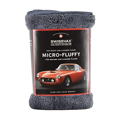 Preisvergleich Produktbild SWISSVAX Micro-Fluffy Premium Poliertuch ultraweich Doppelflausch 38x38cm anthrazit / anthrazit
