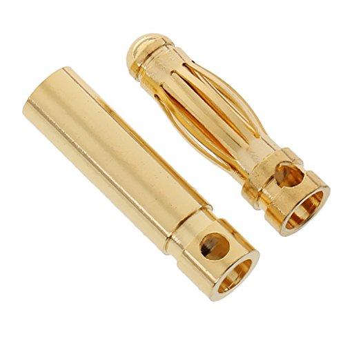 dailymall 20 Pares de 3.0mm Conector Banana Chapado en Oro DIY RC Battery Esc Motor - 10 Piezas Macho + 10 Piezas Hembra