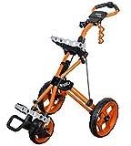 Rovic Model RV3J Junior | Youth 3-Wheel Golf Push Cart (Orange)