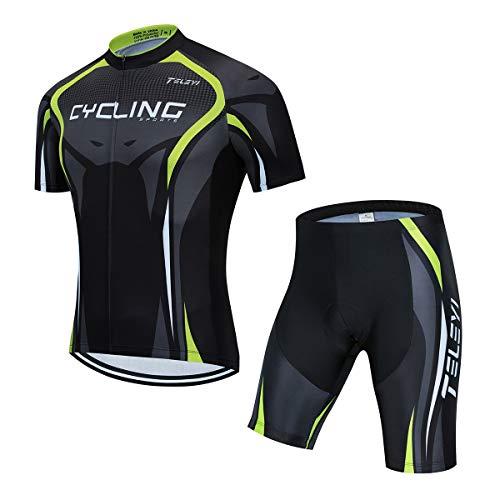 AICTIMO Completo Ciclismo Body Tuta Cislismo Magliatte+Pantaloncini Completo Bici Abbigliamento Ciclismo (Magliette+Pantaloncini, L)