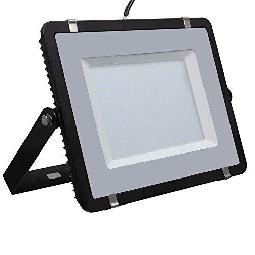 V-TAC PRO VT-206 LED-koplamp 200 W Slim Aluminium Zwart Chip Samsung SMD hoge helderheid koel wit 6400K - SKU 779
