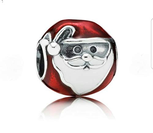 Charmaholics CHRISTMAS Santa Claus 925 Sterling Silver Bead Charm. Red. Fits Pandora Charms Bracelet. Jewellery Stocking Filler, Favour, Present. FREE Gift Wrap