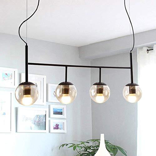 Reiniger glazen lampenkap kroonluchter, moderne minimalistische magische bean lamp tafel restaurant woonkamer werkkamer hangende lichten (kleur: A)