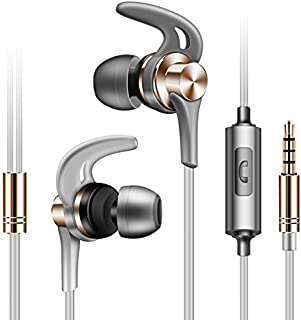 FARVOICE Wired Earphones Stereo HiFi Noise Cancelling in-Ear Earbuds with Microphone for iPhone Android iPad iPod Tablet (...
